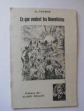 Ce que veulent les ANARCHISTES G.THONAR 1968