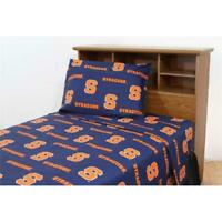College Covers SYRSSQU Syracuse Printed Sheet Set Queen - Solid