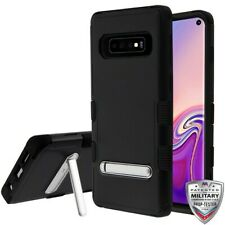 Samsung Galaxy S10 Hybrid Cover Shockproof Protective Rugged Case Black