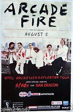 """ARCADE FIRE / SPOON / DAN DEACON """"REFLECTOR TOUR"""" 2014 SAN DIEGO CONCERT POSTER"""