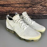 NIKE AIR VAPORMAX FLYKNIT 2 Men's White 942842-105 Gym Trainers Shoes Size UK 10