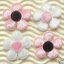 """60 pcs x 1"""" Velvet Felt Spring Flower Padded Appliques for Wedding Crafts ST402"""