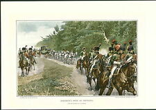 1897 Napoleon Bonaparte Army Troops Coach Travel Uniform White Horse COLOR PRINT