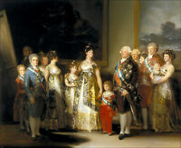 Oil painting Francisco de Goya - Charles IV and his Family & children canvas 48""
