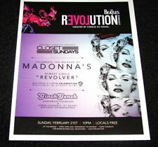 Madonna Revolver Release Party @ The Beatles Lounge 15x12 Matted Event Promo Art