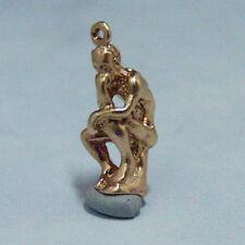 New listing 14k gold vintage Rodin Thinker statue charm Paris