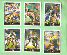 2002  RUGBY LEAGUE BOX BONUS CARD SET  - BC7 to BC12