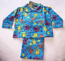 Mr Men Boys Blue 2 Piece Flannel Pyjama Set Size 2 New