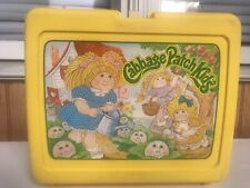 Vintage Cabbage Patch Kids Yellow Plastic Lunch Box Only 1980's Preowned