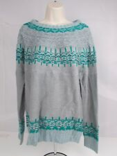 Women's Cloud Chaser Knit Sweater Grey Green Blue 2XL