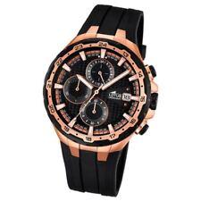 Relojes de pulsera de acero inoxidable dorado de goma