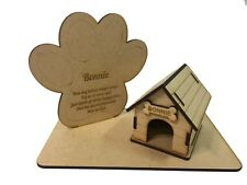 Personalised Paw Print & Kennel Plaque Pet Loss Gift for Dogs Memorial In Memory