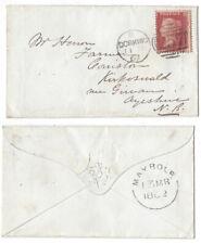MAYBOLE Single Arc Postmark 1862 Cover from Dorking Duplex Postmark #257