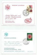 Liechtenstein, 4 Schmuckkarten 1969, 1970, 1972, 1989