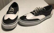 VANS ERA Tuxedo Black & White Leather Wingtip-authentic skate-men's 12 sh