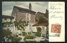 Pavia : Certosa - cartolina viaggiata nel 1904
