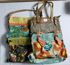 Lot of 4 Fossil Hobo Shoulder Bag Handbag Purses Keyper Butterfly Floral