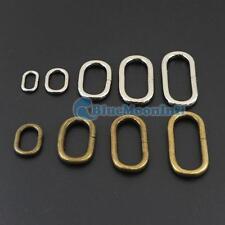 Oval Ring 12 16 25 32 38mm Metal Loop Leather for Purse Bag Handbag Straps B