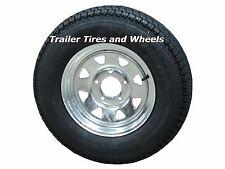 "*2* 175/80D13 LRC ET Bias Trailer Tire on 13"" 5 Lug Galvanized Spoke Wheel"
