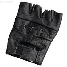 MFH Leder Handschuhe ohne Finger fingerlose Handschuhe schwarz S M L XL XXL