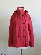 LORO PIANA red double breasted storm system jacket w/100% cashmere lining 44 8