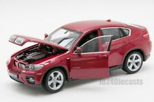 BMW X6 in Red, Welly 24004, scale 1:24, model adult boy gift