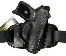 TAGUA BLACK LEATHER MINI THUMB BREAK OWB BELT HOLSTER - H&K HK 45 USP