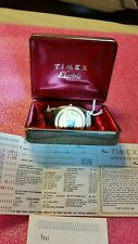VINTAGE 70 S TIMEX SSQ NEW OLD STOCK CASE, TAGS, IBM WRTY. INMACULATE CONDITION