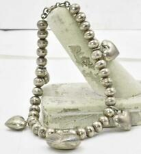 Heart ball Design ladies Bracelet Vintage Sterling Silver Mexico ladies Puffed
