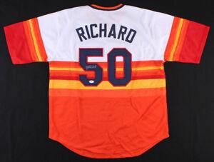 J. R. Richard Signed Houston Astros Jersey (JSA COA) 2×NL K Leader 1978-1979