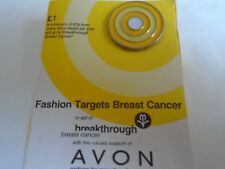Avon Yellow Target Pin Badge For Target Breast Cancer BNOC