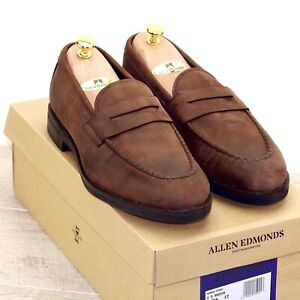 * NIB * $375 Allen Edmonds NOMAD 8 D Brown Distressed * new Trees Bags t