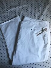 JAG High Rise Straight Crop Jeans, Size 24W, White, NWT
