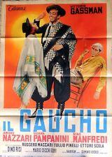 manifesto movie poster 2F IL GAUCHO DINO RISI VITTORIO GASSMAN MANFREDI CINEMA