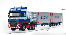 1/50 KDW Engineering car, transporter, container truck, semi-trailer model.