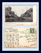 NEBRASKA FALLS CITY STONE STREET POSTED 1909 TO LIZZIE BEYER, MELROSE PARK, IL