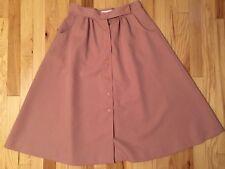 VTG 1960s Garland Button Front Skirt EUC High Waist Blush Pink S/M Made in USA