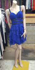 Lipsy VIP UK 10 BNWT Stunning Royal Cobalt Blue Exquisite Beaded Prom/ Eve Dress
