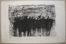 Oskar Koller Menschengruppe Orig Lithographie signiert 1963 schwarz weiß 24/25