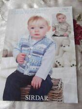 Childs DK  knitting pattern for jumper & waistcoat 16-26 ins
