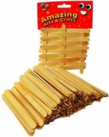 50 to 500 Wooden Sticks Lolly Lollipop Craft Natural