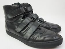 Common Projects X Robert Geller High Top Black Sneakers Velcro Shoes Size 42