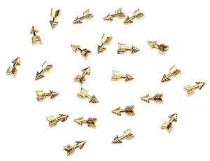 10pcs 3D Nail Art Decoration Gold Arrow Alloy Metal Jewellery Glitter DIY Charms