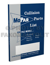 1962 Dodge Body Parts Book Dart 330 440 500 880 Custom Polara Collision