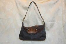 Coach Ashley Signature Satchel Charcoal Gray Leather Handbag F18777