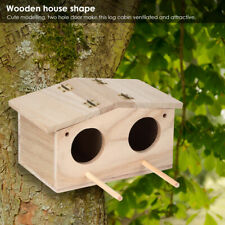 Wooden Bird Warm Breeding Box Outdoor Hanging Wood Pet Bird House Cage Home Nest
