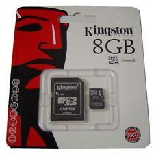 8 Gb Micro Sdhc Sd Tarjeta De Memoria Para Nintendo Ds Dsi Xl 3ds Lite-Wii-Kingston