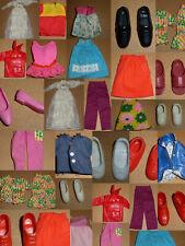 1960er 1970er Barbie Skipper Tutti Mattel vintage Zubehör Schuhe Kleider Outfit