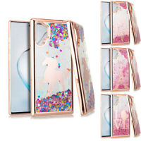 For Samsung Galaxy Liquid Glitter Case A10E A11 A21 Note 20 Plus S20 Ultra A01