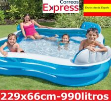 Piscina hinchable Familiar Niños Quadratic con Asientos Intex 229 x 66 cm 990 L